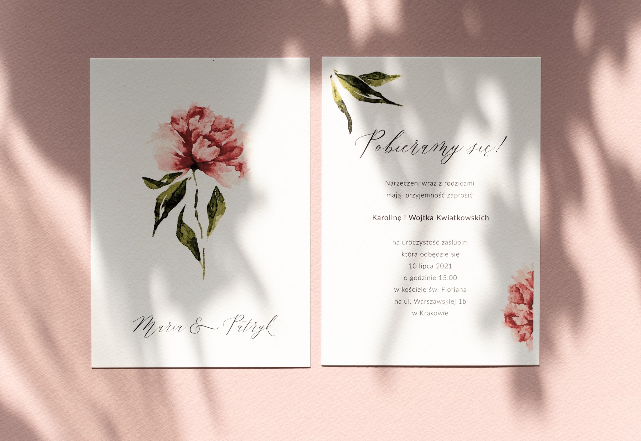 Zaproszenia ślubne – inspirowane naturą