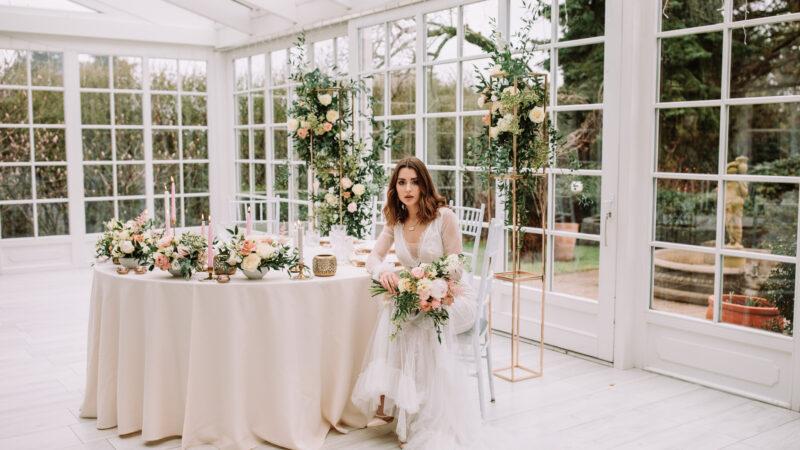 Róż i złoto czyli ślubna klasyka